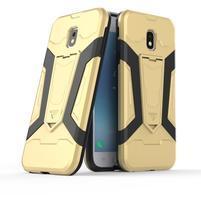 Combo odolný obal se stojánkem na Samsung Galaxy J3 (2017) - zlatý