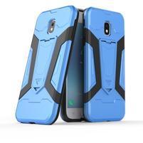 Combo odolný obal se stojánkem na Samsung Galaxy J3 (2017) - modrý