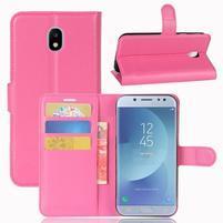 Grain knížkové pouzdro na mobil Samsung Galaxy J3 (2017) - rose