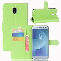 Grain knížkové pouzdro na mobil Samsung Galaxy J3 (2017) - zelené