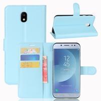 Grain knížkové pouzdro na mobil Samsung Galaxy J3 (2017) - světlemodré
