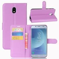 Grain knížkové pouzdro na mobil Samsung Galaxy J3 (2017) - fialové