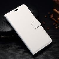 Wallet PU kožené pouzdro pro Samsung Galaxy J3 (2017) - bílé