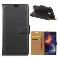 Wallet Pu kožené pouzdro na Samsung Galaxy J4 (2018) - černé