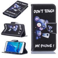 Bossi knížkové zapínací pouzdro na Samsung Galaxy J5 (2016) - Don´t touch