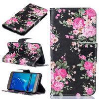 Patty peněženkové pouzdro na Samsung Galaxy J5 (2016) - květiny