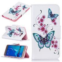 Patty peněženkové pouzdro na Samsung Galaxy J5 (2016) - růžové kvítky