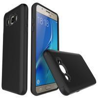 Brush odolný obal 2v1 na mobil Samsung Galaxy J5 (2016) - černý