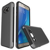 Brush odolný obal 2v1 na mobil Samsung Galaxy J5 (2016) - šedý