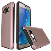 Brush odolný obal 2v1 na mobil Samsung Galaxy J5 (2016) - růžovozlatý