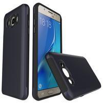 Brush odolný obal 2v1 na mobil Samsung Galaxy J5 (2016) - tmavěmodrý