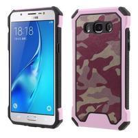 Army outdoor odolný obal na mobil Samsung Galaxy J5 (2016) - růžový