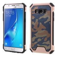 Army outdoor odolný obal na mobil Samsung Galaxy J5 (2016) - růžovooranžový
