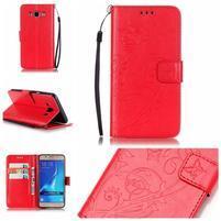 MagicFly PU kožené pouzdro na Samsung Galaxy J5 (2016) - červené