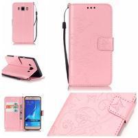 MagicFly PU kožené pouzdro na Samsung Galaxy J5 (2016) - růžové