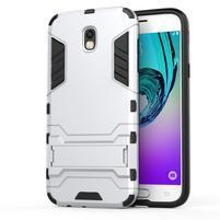 Defender odolný obal na mobil Samsung Galaxy J5 (2017) - stříbrný