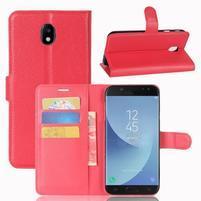 Grianes PU kožené pouzdro na Samsung Galaxy J5 (2017) - červené