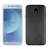 Fiber texturovaný gelový obal na Samsung Galaxy J5 (2017) - černý