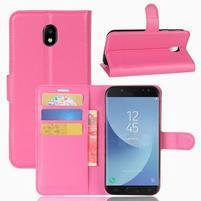 Grianes PU kožené pouzdro na Samsung Galaxy J5 (2017) - rose