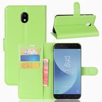 Grianes PU kožené pouzdro na Samsung Galaxy J5 (2017) - zelené
