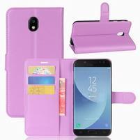 Grianes PU kožené pouzdro na Samsung Galaxy J5 (2017) - fialové