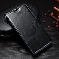 Wallet knížkové PU kožené pouzdro na Samsung Galaxy J5 (2017) - černé