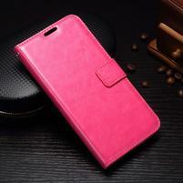 Wallet knížkové PU kožené pouzdro na Samsung Galaxy J5 (2017) - rose