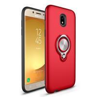 Hybridní odolný obal s magnetickým držákem na Samsung Galaxy J5 (2017) - červený