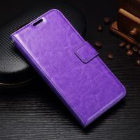 Wallet knížkové PU kožené pouzdro na Samsung Galaxy J5 (2017) - fialové