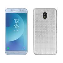 Carb odolný gelový kryt na Samsung Galaxy J7 (2018) - stříbrný