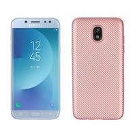Carb odolný gelový kryt na Samsung Galaxy J7 (2018) - růžovozlatý