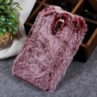 Furry gelový obal pro Samsung Galaxy J7 (2018) - vínově červený