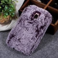 Furry gelový obal pro Samsung Galaxy J7 (2018) - fialový