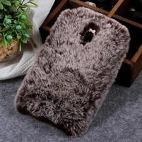 Furry gelový obal pro Samsung Galaxy J7 (2018) - hnědý