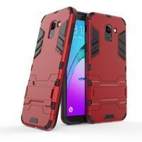 Defender odolný hybridní kryt na mobil Samsung Galaxy J6 (2018) - červený