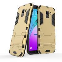 Defender odolný hybridní kryt na mobil Samsung Galaxy J6 (2018) - zlatý