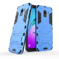 Defender odolný hybridní kryt na mobil Samsung Galaxy J6 (2018) - světlemodrý