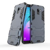 Defender odolný hybridní kryt na mobil Samsung Galaxy J6 (2018) - tmavěmodrý
