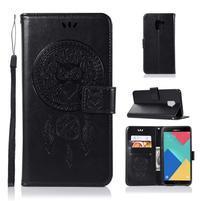 Owl PU kožené peněženkové pouzdro pro Samsung Galaxy J6 (2018) - černé