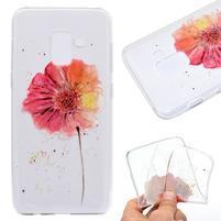 Printy gelový obal na mobil Samsung Galaxy J6 - červené květy