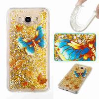 GlittFun přesýpací obal na Samsung Galaxy J7 (2016) - motýl