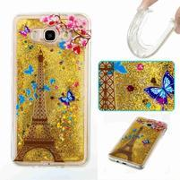 GlittFun přesýpací obal na Samsung Galaxy J7 (2016) - Eiffelova věž