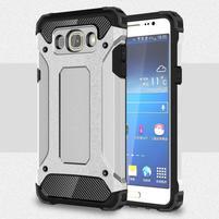 Armory odolný obal na mobil Samsung Galaxy J7 (2016) - stříbrný