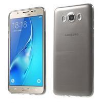Slim ultratenký gelový obal na Samsung Galaxy J7 (2016) - šedý