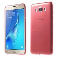 Slim ultratenký gelový obal na Samsung Galaxy J7 (2016) - červený