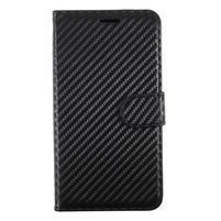 Carbo PU kožené pouzdro na mobil Samsung Galaxy J7 (2017) - černý