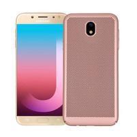 Rubbi elegant plastový obal na Samsung Galaxy J7 (2017) - rosegold