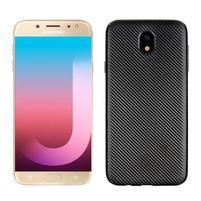 Fiber texturovaný gelový obal na Samsung Galaxy J7 (2017) - černý