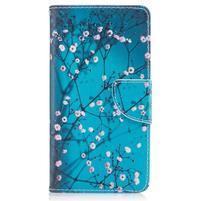 Emotive PU kožené pouzdro na Nokia 5 - kvetoucí strom