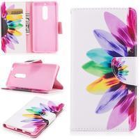 Emotive PU kožené pouzdro na Nokia 5 - barevné květy